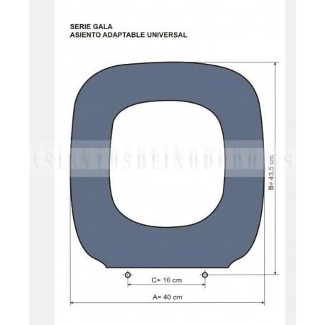 Asientos wc tapas inodoro w ter compatibles universal gala for Tapa wc gala universal