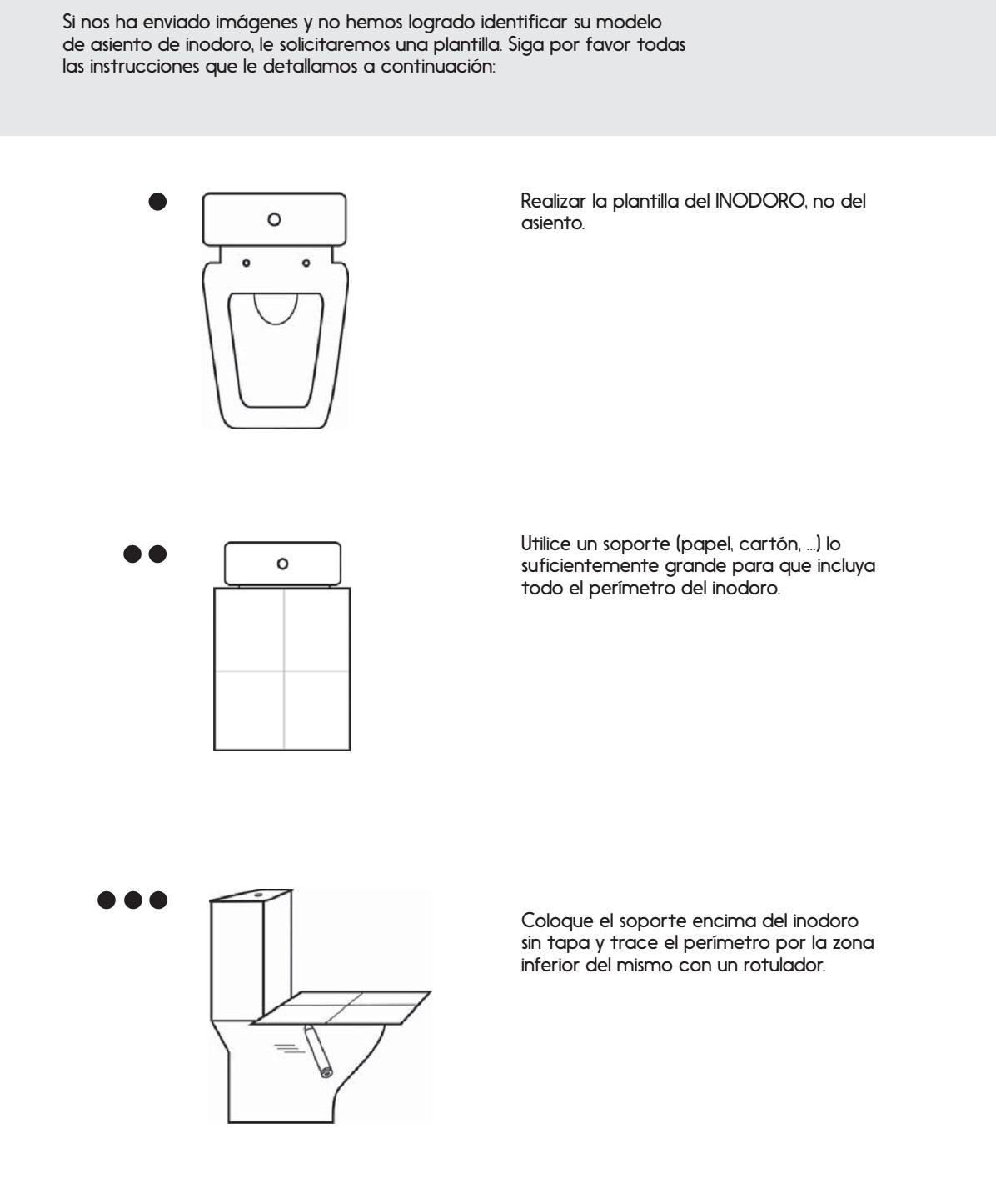 Asiento inodoro tapa WC hacer plantilla identificar modelo ...